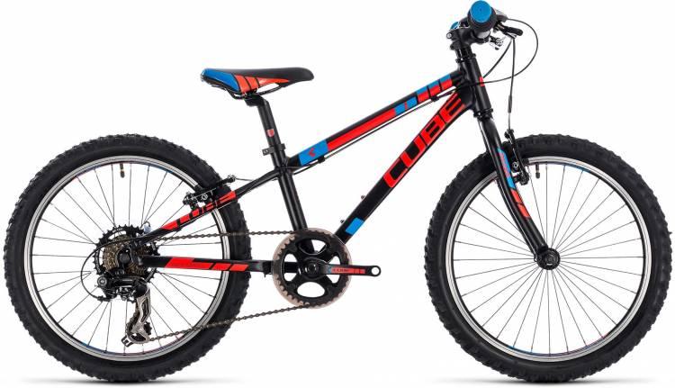 Cube Kid 200 black n flashred n blue 2018 - Bicicleta Niños 20 Pulgadas