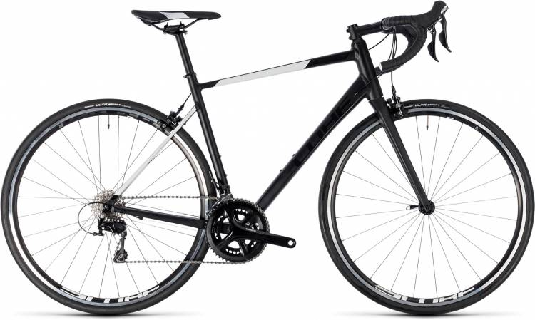 Cube Attain SL black n white 2018 - Bicicleta de Carrera Aluminio Hombres