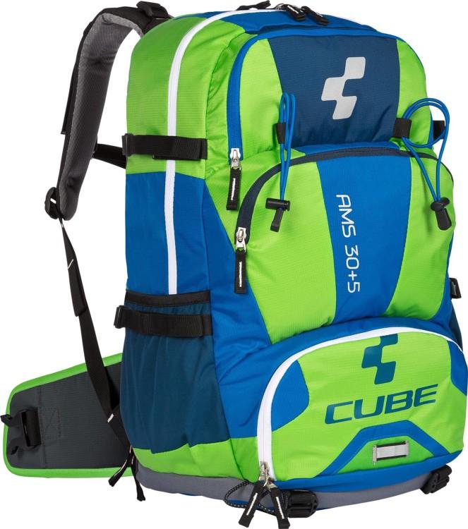 Mochila Cube AMS 30+5 azul y verde