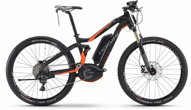 Haibike XDURO FullSeven S 7.0 500Wh schwarz/orange matt 2017 - MTB-Eléctrica Doble Suspensión