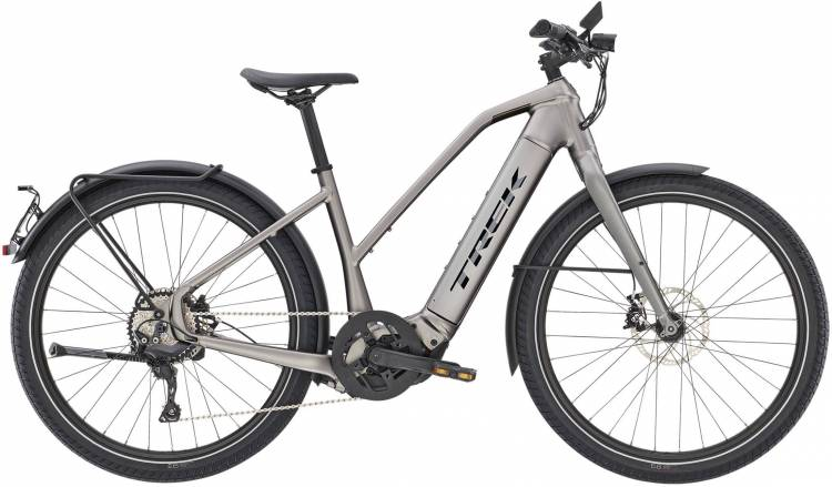 Trek Allant+ 8S Stagger Matte Gunmetal 45km/h 2021 - Bicicleta-Eléctrica Trekking Damas
