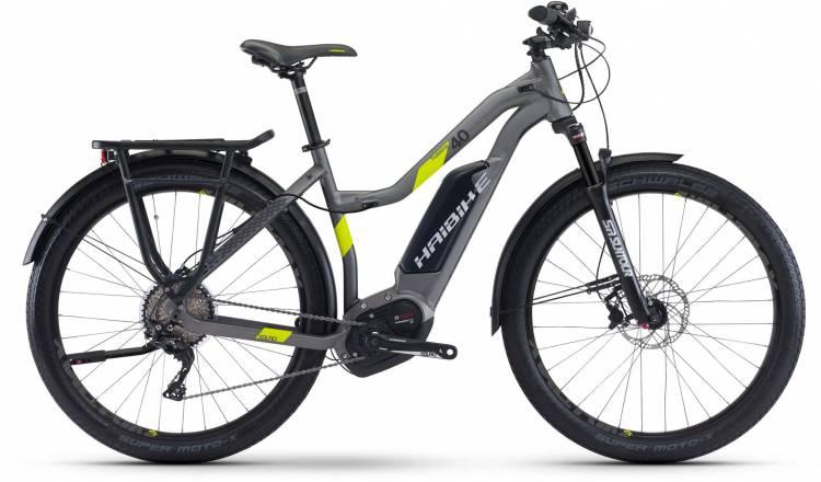 Haibike XDURO Trekking 4.0 500Wh titan/lime matt 2017 - Bicicleta-Eléctrica Trekking Damas Trapecio