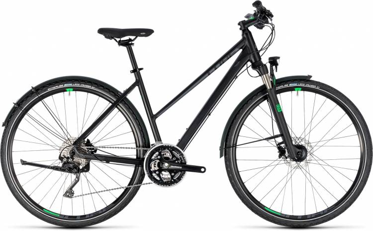 Cube Cross Allroad black n green 2018 - Bicicleta Cross Damas Trapecio