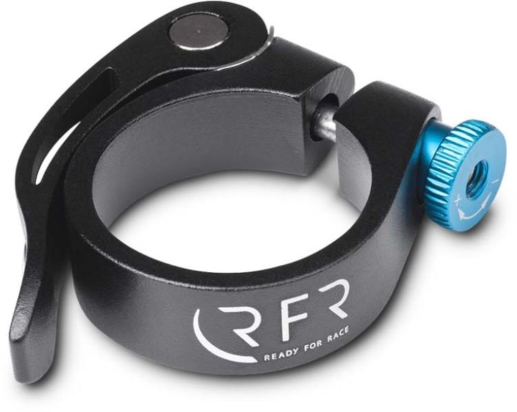 Abrazadera de sillín RFR con cierre rápido 34,9 mm negro y azul