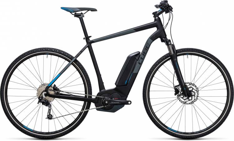 Cube Cross Hybrid Pro 400 black n blue 2017