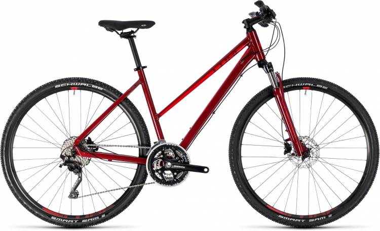 Cube Nature SL darkred n red 2018 - Bicicleta Cross Damas Trapecio