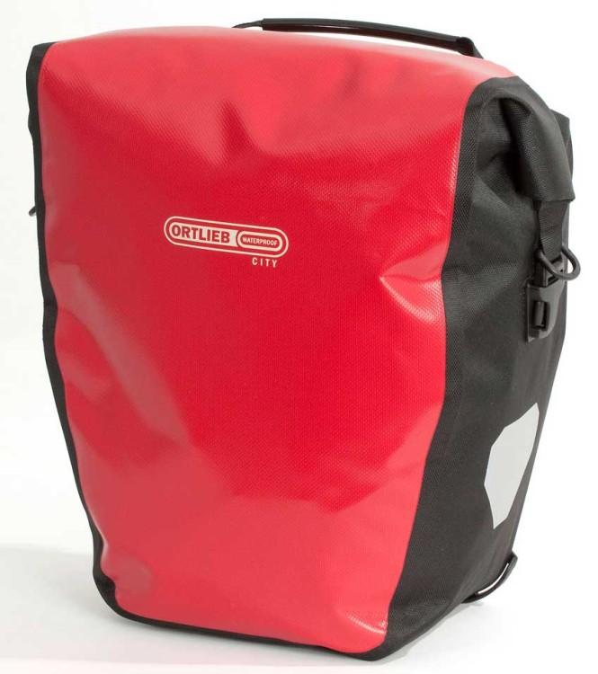 Ortlieb Back-Roller City (par) bolso de ruedas traseras rojo