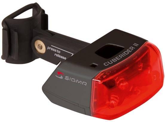 Lámpara trasera de baterías Sigma Cuberider II negra