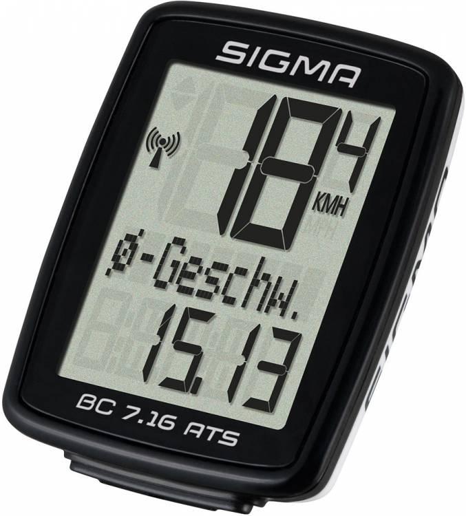 Ciclocomputadora Sigma BC 7.16 ATS negro
