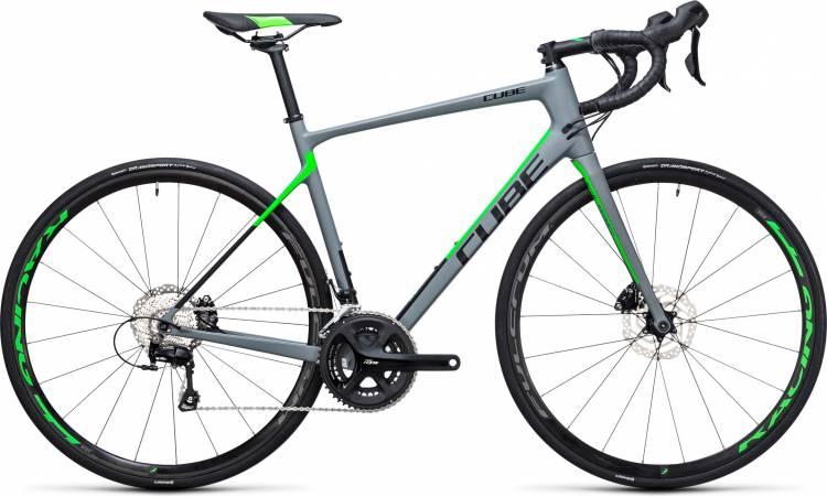 Cube Attain GTC Pro Disc grey n flashgreen 2017