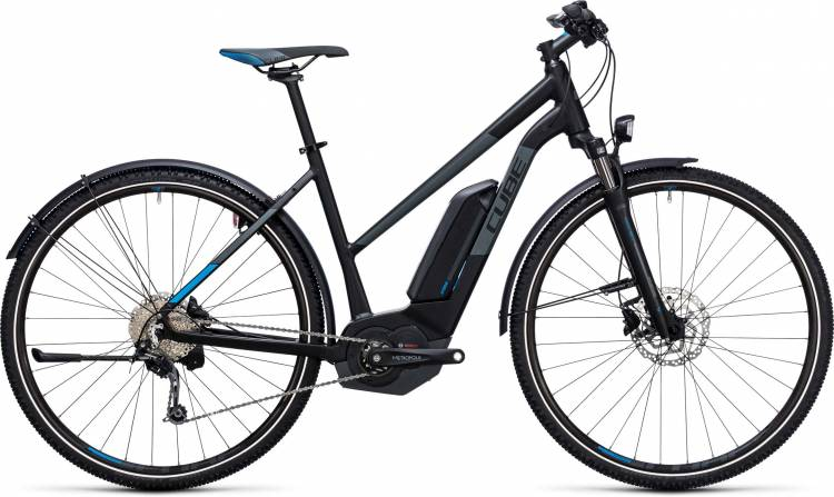 Cube Cross Hybrid Pro Allroad 400 black n blue Damen Trapez 2017