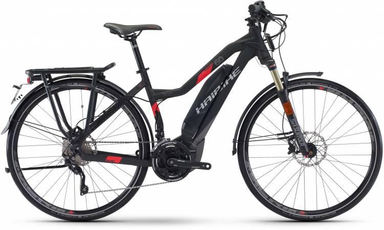 Haibike SDURO Trekking S 6.0 500Wh schwarz/titan/rot matt 2017 - Bicicleta-Eléctrica Trekking Damas Trapecio