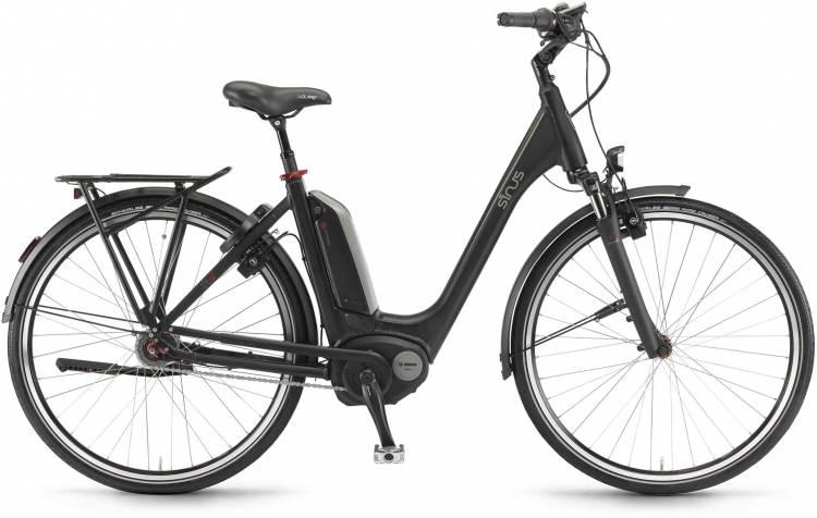 "Sinus Tria N7 400Wh 28"" schwarz matt 2017 - Bicicleta-Eléctrica Trekking Acceso Fácil"