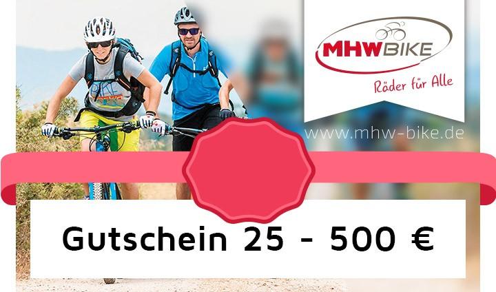 MHW Gutscheinvarianten von 25,- bis 500,- Euro