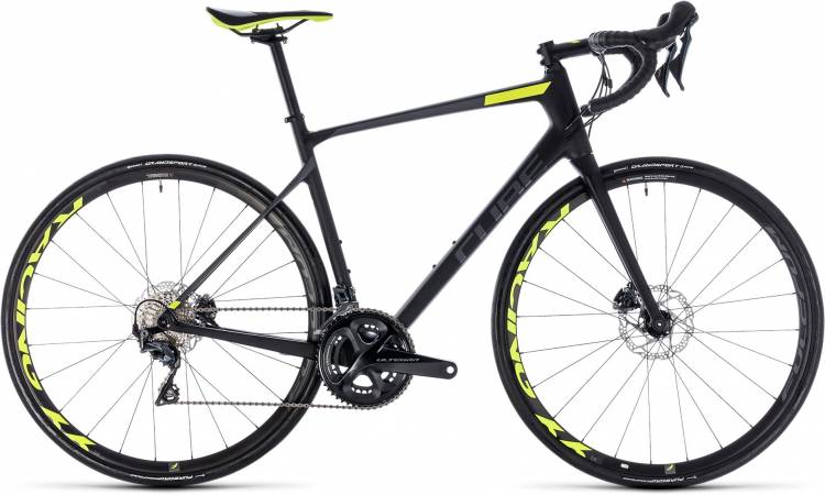 Cube Attain GTC SLT Disc carbon n flashyellow 2018 - Bicicleta de Carrera Carbono Hombres