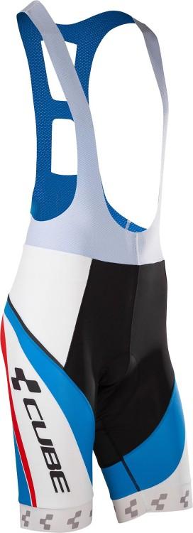 Culotte Cube TEAMLINE cortos blanco, azul y rojo