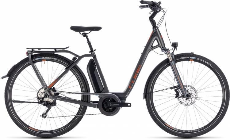 Cube Town Hybrid Sport Pro 500 grey n copper 2018 - Bicicleta-Eléctrica Trekking Acceso Fácil
