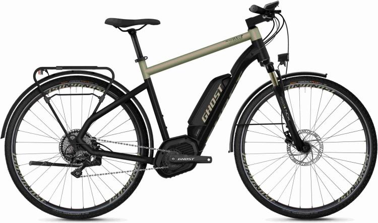 Ghost Hybride Square Trekking B5.8 AL U jet black / ext gold 2020 - Bicicleta-Eléctrica Trekking Hombres