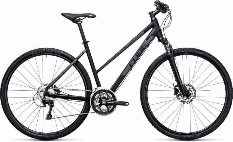 Cube Nature Pro black n grey 2017 - Bicicleta Cross Damas Trapecio
