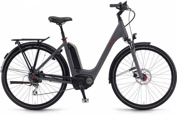 """Sinus Tria 8 400Wh 28"""" schiefer matt 2017 - Bicicleta-Eléctrica Trekking Acceso Fácil"""