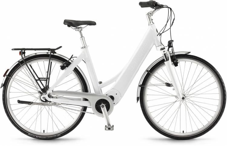 "Winora Manto M7 28"" FL 400Wh saltwhite 2017 - Bicicleta-Eléctrica Trekking Acceso Fácil"