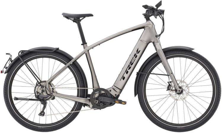 Trek Allant+ 8S Matte Gunmetal 45km/h 2021 - Bicicleta-Eléctrica Trekking Hombres