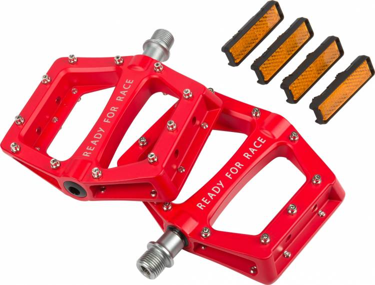 Pedales Cube RFR Flat RACE rojos