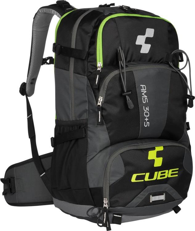 Mochila Cube AMS 30+5 negro y verde