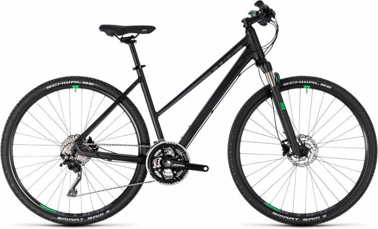 Cube Cross black n green 2018 - Bicicleta Cross Damas Trapecio