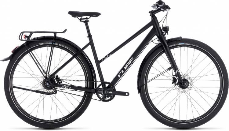 Cube Travel Pro black n white 2018 - Bicicleta Trekking Damas Trapecio