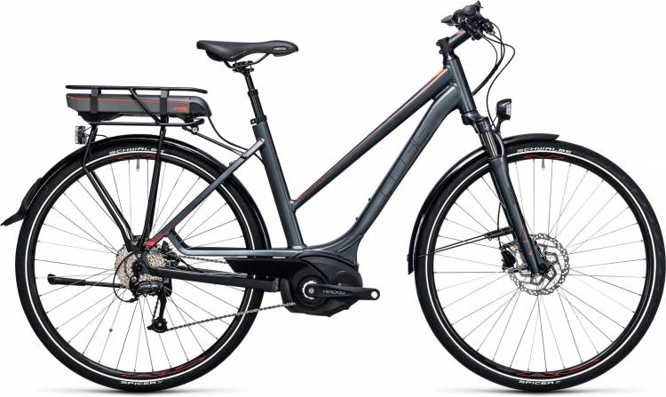 Cube Touring Hybrid Pro 500 grey n flashred Damen Trapez 2017