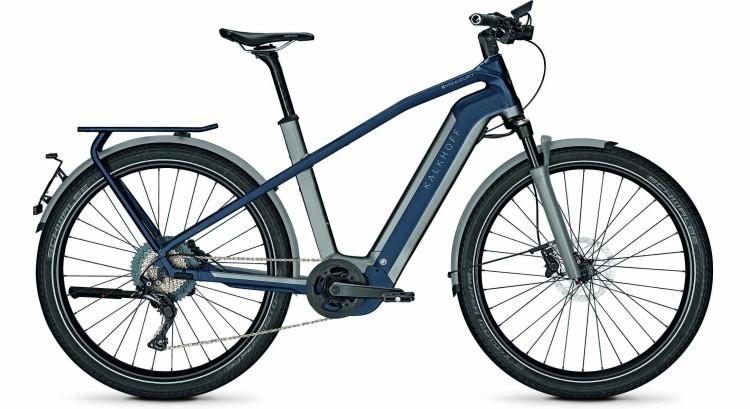 Kalkhoff Endeavour 7.B Excite 45km/h jetgrey/sydneyblue matt (Diamond) 2021 - Bicicleta-Eléctrica Trekking Hombres