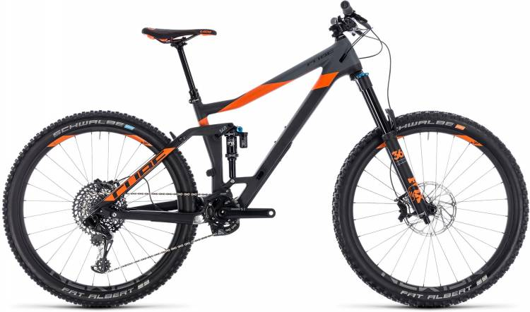 Cube Stereo 160 C:62 TM 27.5 carbon n orange 2018