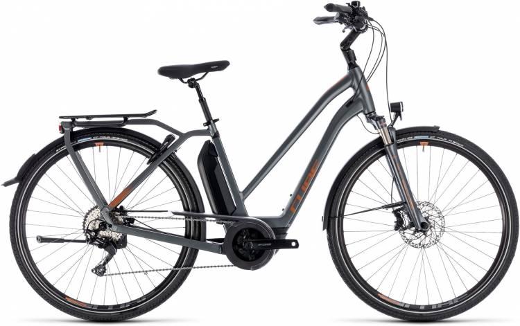Cube Town Hybrid Sport Pro 500 grey n copper 2018 - Bicicleta-Eléctrica Trekking Damas Trapecio