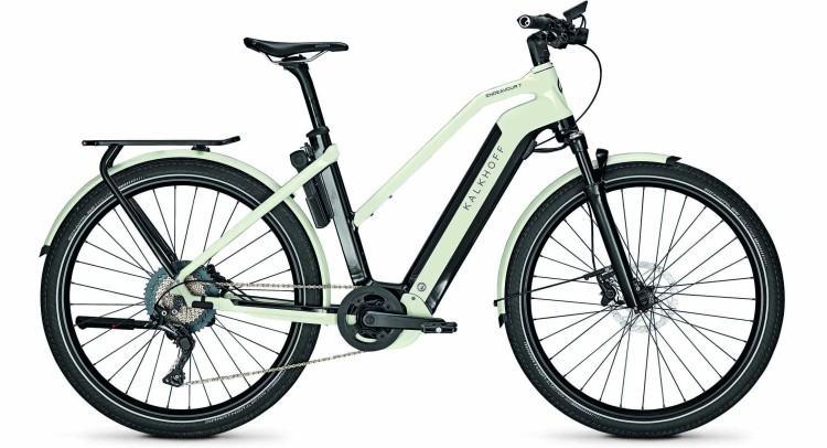Kalkhoff Endeavour 7.B Advance magicblack/starwhite glossy (Trapez) 2021 - Bicicleta-Eléctrica Trekking Damas