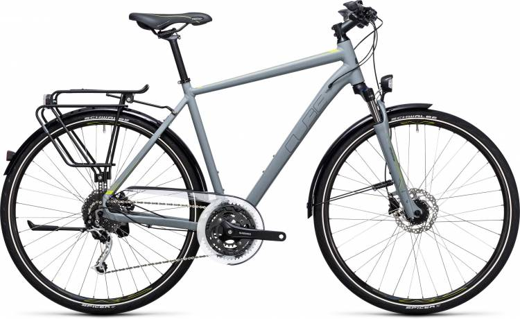Cube Touring EXC grey n lime 2017 - Bicicleta Trekking Hombres