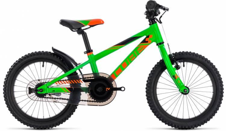 Cube Kid 160 flashgreen n orange 2018 - Bicicleta Niños 16 Pulgadas