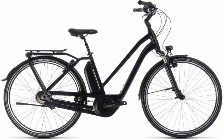 Cube Town Hybrid Pro 500 black n grey 2018 - Bicicleta-Eléctrica Trekking Damas Trapecio
