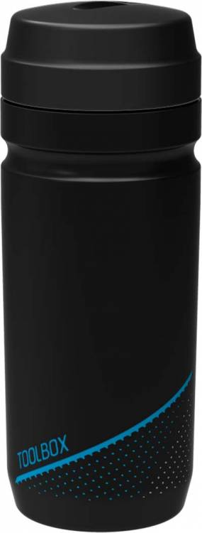 Cubo herramienta botella 0,6l negro n gris n azul