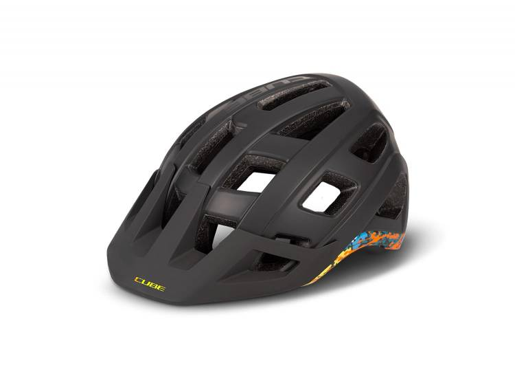 Cube Helm BADGER black´n´splash