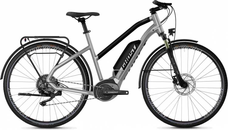 Ghost Hybride Square Trekking B2.8 AL W iridium silver / jet black 2020 - Bicicleta-Eléctrica Trekking Damas