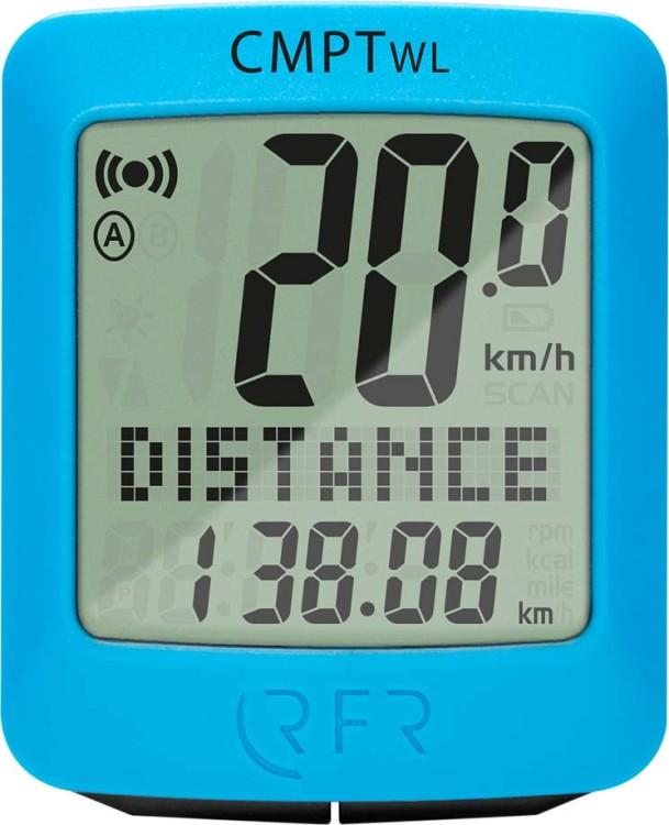 RFR ordenador para bicicletas inalámbrico CMPT azul