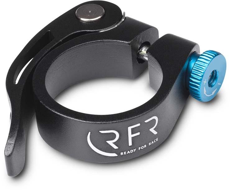 Abrazadera de sillín RFR con cierre rápido 31,8 mm negro y azul