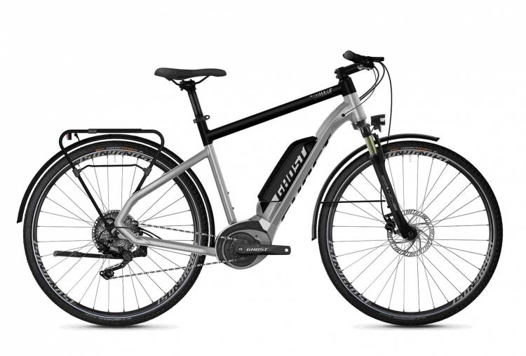 Ghost Hybride Square Trekking B2.8 AL U iridium silver / jet black 2020 - Bicicleta-Eléctrica Trekking Hombres