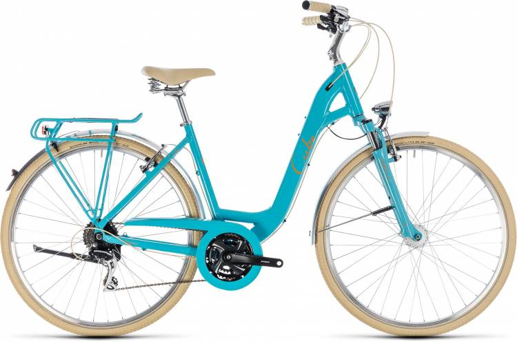 Cube Elly Ride aqua n orange 2018 - Bicicleta Trekking acceso Fácil
