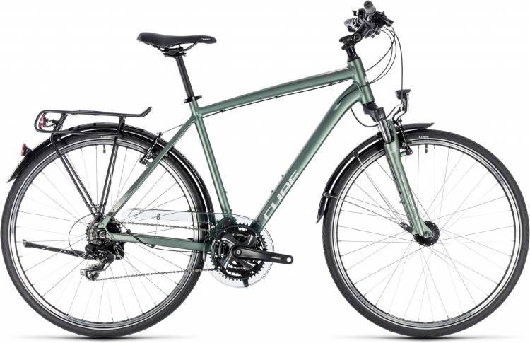 Cube Touring green n silver 2018 - Bicicleta Trekking Hombres