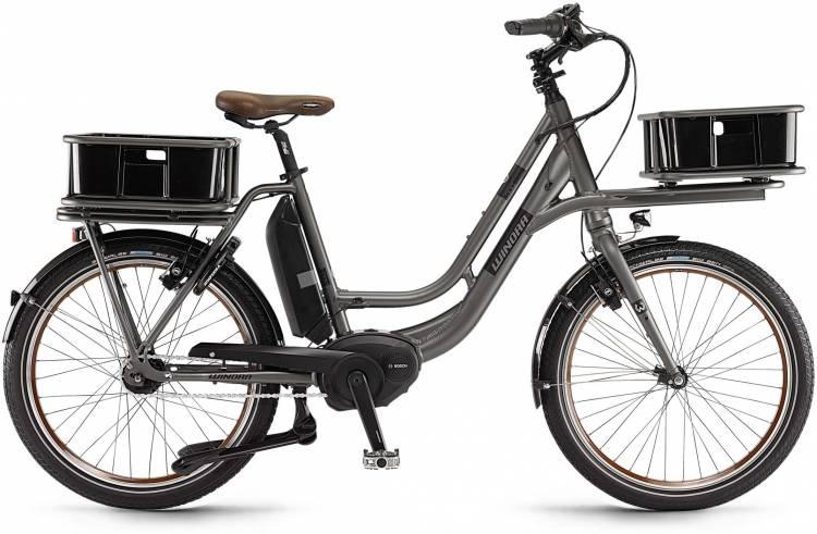 "Winora eLoad 400Wh 24"" FL graphit matt 2017 - Bicicleta-Eléctrica Fitness Hombres"