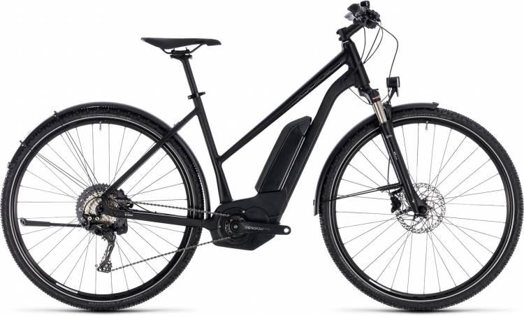 Cube Cross Hybrid Race Allroad 500 black n white 2018 - Bicicleta-Eléctrica Cross Damas Trapecio