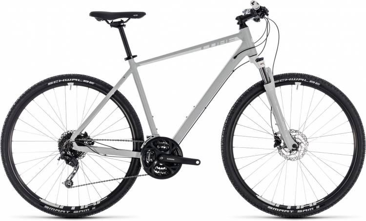 Cube Nature Pro bright grey n white 2018 - Bicicleta Cross Hombres