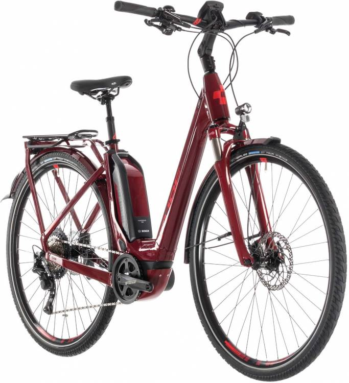 Cube Touring Hybrid EXC 500 darkred n red - Easy Entry 2019